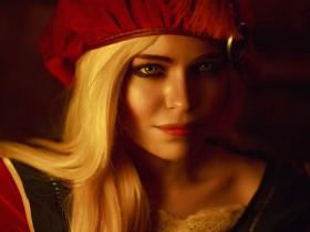 【cos】《巫师3》普西拉精美COS 被丹德里安骚扰一脸嫌弃